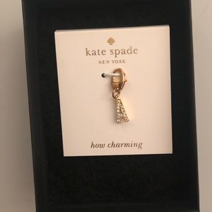 "Kate Spade: Gold ""A"" Necklace Charm"